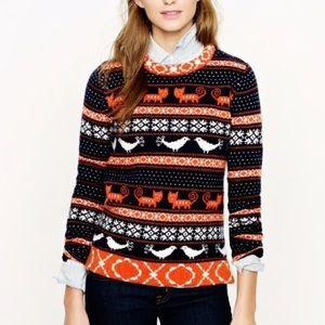 J. Crew Farmyard Fair Isle sweater